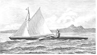 Sketch of Rob Roy Canoe