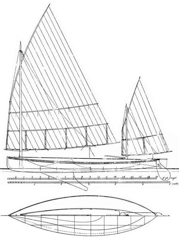 Snake - perhaps the first recorded planing sailboat?