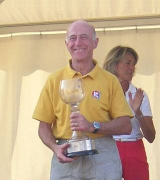 Photo: Colin Newman with the Europa Cup at the 2006 medal ceremony. © Colin Newman/Mike Rowe